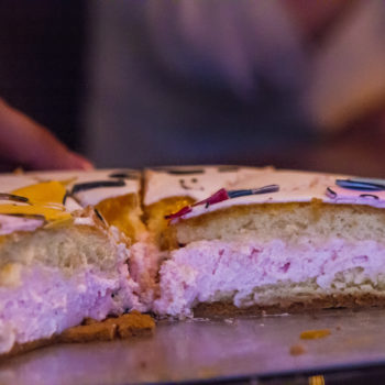 roze vulling taart