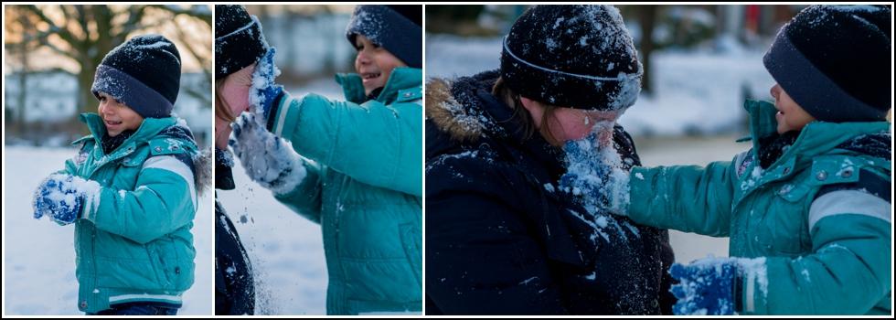 Gezinsfotografie in de sneeuw