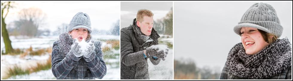 Loveshoot in de sneeuw Groningen