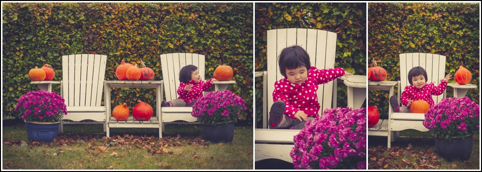 baby photo session in autumn