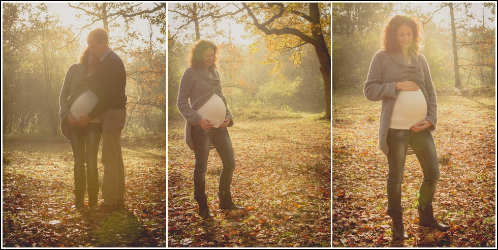Maternity session in Autumn Katwijk