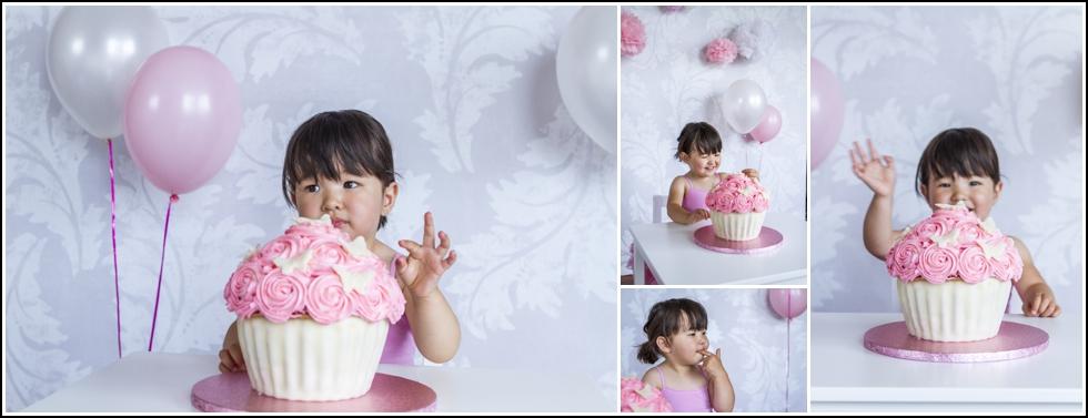 cake smash voor verjaardagsuitnodiging