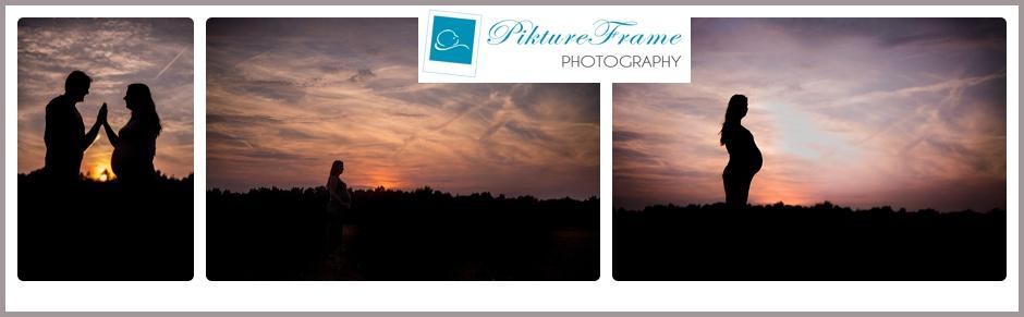 Zwangerschapsreportage bij zonsondergang   Vlagtwedde