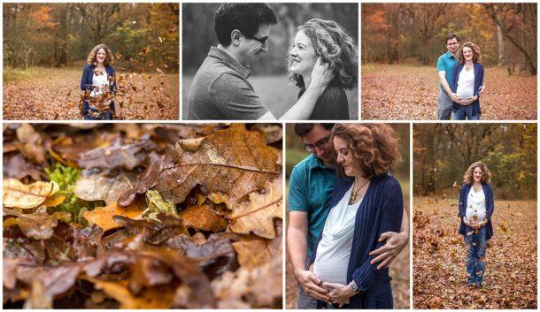 Zwangerschapsreportage herfst Panbos Katwijk