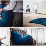 Luxe zwangerschapsreportage in de studio