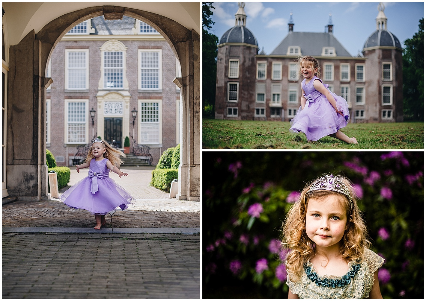 Prinsessen mini shoot in kasteel