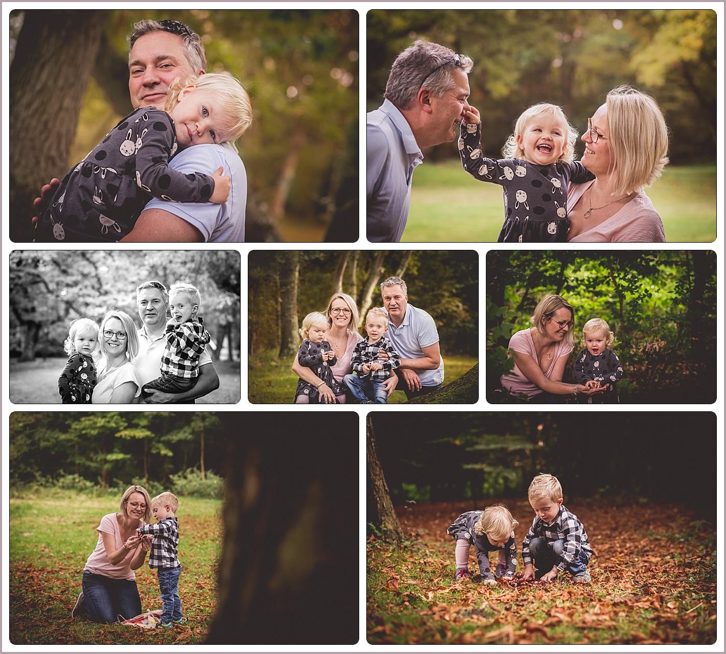 Familereportage in de herfst Panbos Katwijk