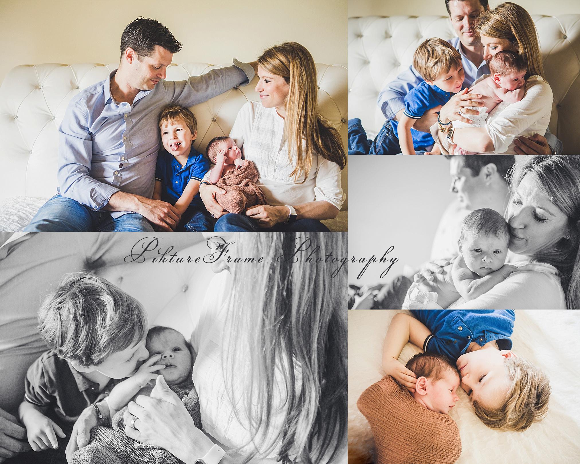 Newborn reportage het gezin