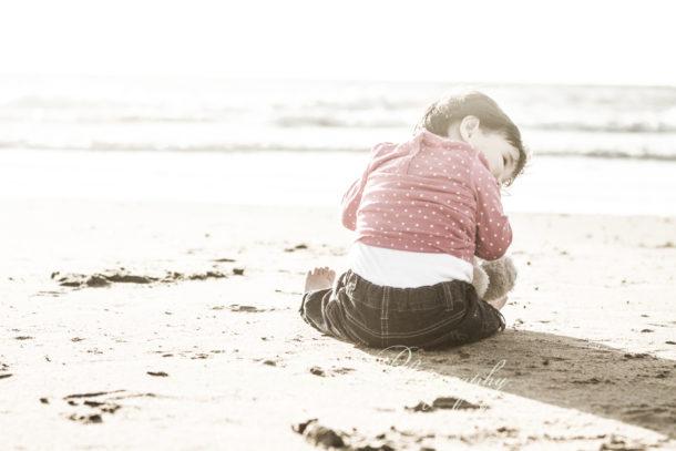 strand fotoreportage dochter