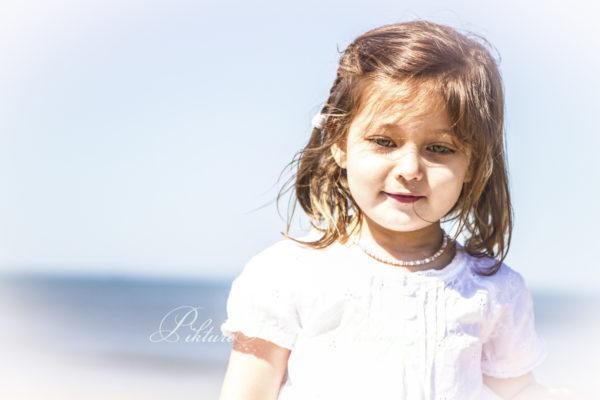gezinsreportage op het strand